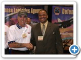 Phillip with Marine and actor R. Lee Ermey.