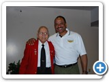 Phillip with original Tuskeegee airman Howard Baugh.